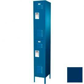 "Traditional Double Tier Locker, Adder, 1 Wide, 12""W X 12""D X 36""H, Unassembled, Blue Frost"