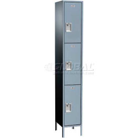 "Traditional Plus Three Tier Locker, 2 Wide, 12""W X 12""D X 24""H, Assembled, Almond"