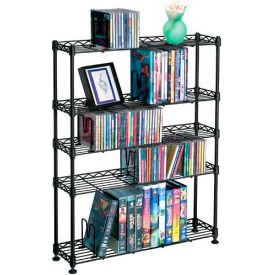 Atlantic® Maxsteel 5 Tier Multimedia Rack For 275 CDs or 152 DVDs and Blu-Ray
