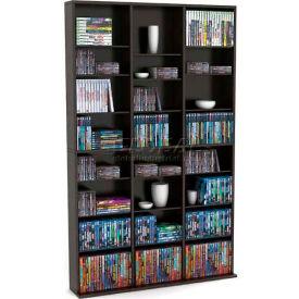 Atlantic® Oskar Media Cabinet 756 CD or 360 DVD or Blu-Ray or Games in Espresso