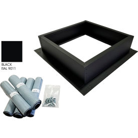 Attic Breeze® Roof Curb Installation Kit, Black