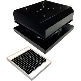 Attic Breeze® GEN 2 AB-2042D-BLK Curb Mount Detached Solar Attic Fan 20W Black