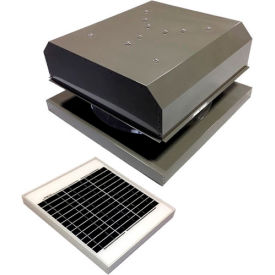 Attic Breeze® GEN 2 AB-2042D-GRY Curb Mount Detached Solar Attic Fan 20W Gray