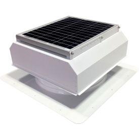 Attic Breeze® GEN 2 AB-3022A-WHT Self-Flashing Attached Solar Attic Fan 30W White