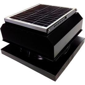 Attic Breeze® GEN 2 AB-3042A-BLK Curb Mount Attached Solar Attic Fan 30W Black