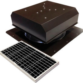 Attic Breeze® GEN 2 AB-4022D-BRN Self-Flashing Detached Solar Attic Fan 40W Brown