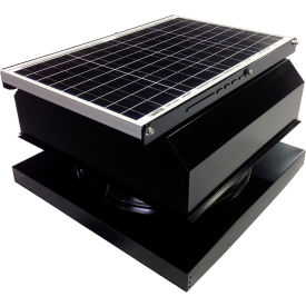 Attic Breeze® GEN 2 AB-4042A-BLK Curb Mount Attached Solar Attic Fan 40W Black