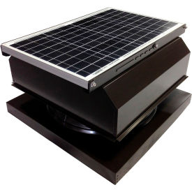 Attic Breeze® GEN 2 AB-4042A-BRN Curb Mount Attached Solar Attic Fan 40W Brown