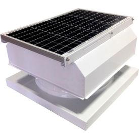 Attic Breeze® GEN 2 AB-4042A-WHT Curb Mount Attached Solar Attic Fan 40W White