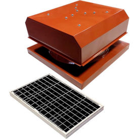 Attic Breeze® GEN 2 AB-4042D-TCT Curb Mount Detached Solar Attic Fan 40W Terra Cotta