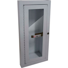 Buddy Product Fire Extinguisher Cabinet, Semi Recessed, 5 Lbs. Capacity, 8012-9