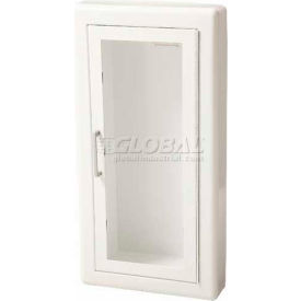 """Fire Extinguisher Cabinet, Full Acrylic Window, Semi-Recessed 6""""D, Steel, 3"""" Rolled"""