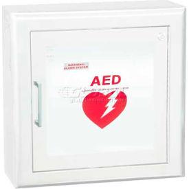 "AED Cabinet Semi Recessed, 3"" Rolled Trim X 6 3/4"", 85 Db Audible Alarm, Steel"