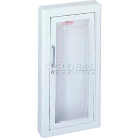 Fire-Rated Fire Extinguisher Cabinet, Clear Acrylic Bubble & Saf-T-Lok, Semi-Recessed, Steel