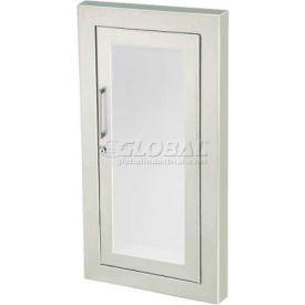 "Fire Extinguisher Cabinet, Full Acrylic Window, Saf-T-Lok, Semi-Recessed 5.5""D, SS"