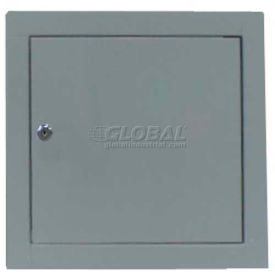 "Multi Purpose Metal Access Panel, Key Lock, Gray, 16""W x 16""H"