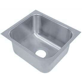 "Under Mount Sink, One Compartment, 20L x 20W Bowl, 12"" Overall Height, 18 Gauge"