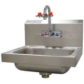 """Hand Sink With Eye Wash Faucet, 17-1/4""""L x 15-1/4""""W x 13""""H Overall by"""