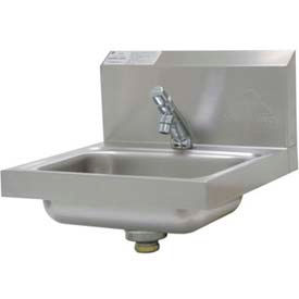 "Wall Mounted Hand Sink, H.A.C.C.P. Compliant, 17-1/4""L x 15-1/4""W x 13""H Overall"
