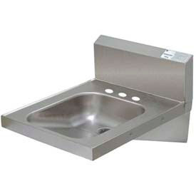 ADA Compliant Hand Sink, Wall Model With Bracket & Side Supports by