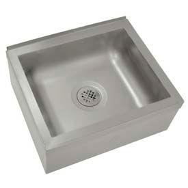Floor Mounted Mop Sink, 20L x 16W x 6D Bowl