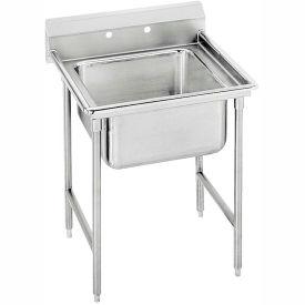 Regaline 1 Compartment Sink, 20L x20W Bowl, 8 Splash, No Drainboards, 16Ga.