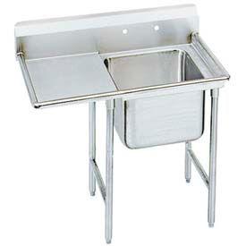 "Regaline 1 Compartment Sink, 24L x24W Bowl, 8 Splash, 36"" Left Drainboard, 16Ga."