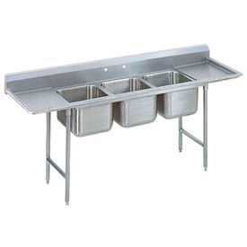Regaline Three Compart. Sink, 20L x 28W Bowl, 8 Splash, 24 Left & Right Drainboards 16 Ga.