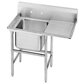 Regaline 1 Compartment Sink, 20L x28W Bowl, 11 Splash, No Drainboards, 14Ga.