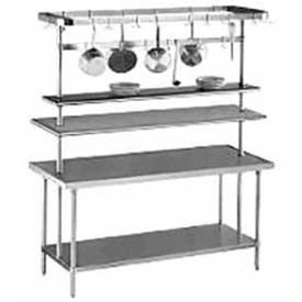"Utensil Rack, 48""W, W/6 Plated Pot Hooks"