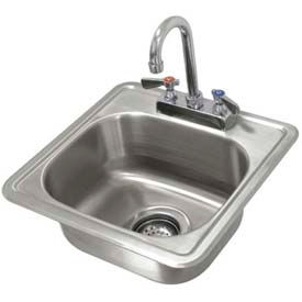 Drop In Sink, One Compartment 12-1/4L x 10-1/4W x 6D Bowl W/Rimmed Edge, 20 Gauge