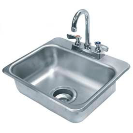 Drop In Sink, One Compartment 14L x 10W x 5D Bowl W/Tapered Edge, 20 Gauge