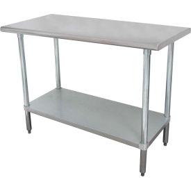 "Advance Tabco ELAG-304-X 48""W x 30""D Work Table  Without Splas w/ Adjustable Undershelf"