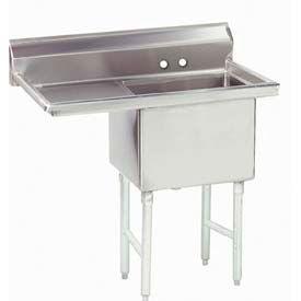 NSF Fabricated 1 Compartment Sink, 18L x 18W Bowl, 9 Splash, 18H Left Drainboard, 18Ga.