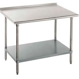 "Advance Tabco FLG-306 72""W x 30""D Work Table With Adjustable Undershelf, Galvanized"