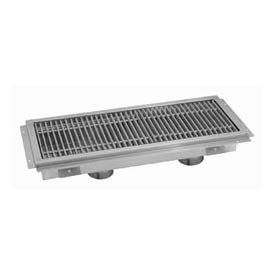 Floor Trough, 96L x 12W x 4H, Stainless Steel Grate Double Drain
