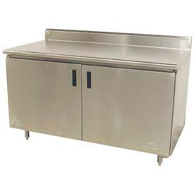 Stainless Steel Work Benches | Stainless Steel Enclosed Base | Advance  Tabco HK SS 244M 48u0026quot;W X 24u0026quot;D Work Table, Cabinet Base W/Hinged  Doors ...