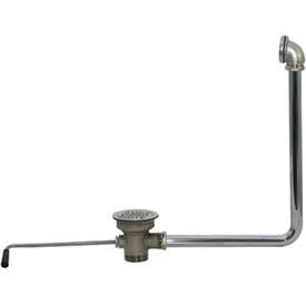 Lever Drain With Built In Overflow