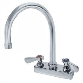 "Deck Mounted Gooseneck Faucet With 8-1/2"" Spout, 4"" O.C."