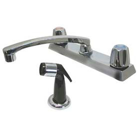 """Deck Mounted Swing Spout Faucet & Spray, 8"""" O.C"""