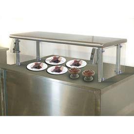 "Self Service Food Shield, 12""W x 132""L x 18""H, Stainless Steel Top Shelf"
