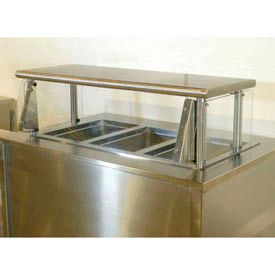 "Cafeteria Food Shield, Stainless Steel Shelf, 15""W x 48""L, 18""H"