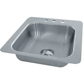 Smart Series Drop In Sink, One Compartment 16L x 14W x 10D Bowl, 18 Gauge