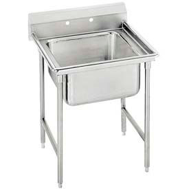 Regaline T9 Series 1 Compartment Sink, 16L x20W Bowl, 8 Splash, No Drainboards, 16Ga.