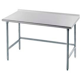 """Advance Tabco TFLG-307 84""""W x Work Table With Galvanized Legs, Side & Rear Crossrails"""