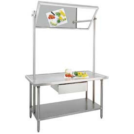"Advance Tabco VSS-DT-36 Demo Table, 60""W x 36""D Stainless Steel Top, W/Adjustable Undershelf"