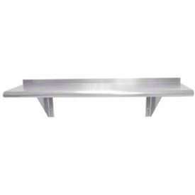 "Advance Tabco WS-KD-24-X 24""W x 11-1/8""D Shelf, Wall-Mounted, Stainless Steel, Knocked Down Type"