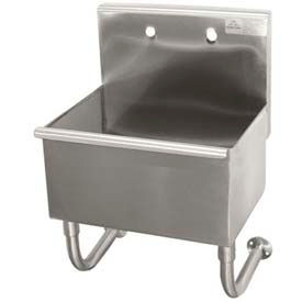 Wall Mounted Service Sink, One Compartment, 22L x 26W x 12H Bowl, 304 Stainless Steel