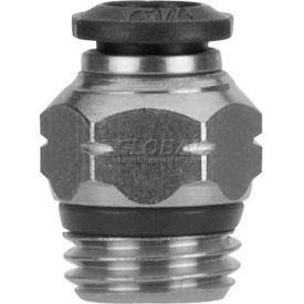 "Alpha Fittings Straight Male 50000N-10-1/4, 10mm Tube x 1/4"" Swift-Fit Universal Thread - Pkg Qty 3"