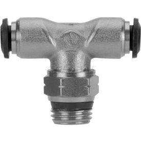 "Alpha Fittings Swivel Branch Tee 50210N-14-1/2, 14mm Tube x 1/2"" Swift-Fit Universal Thread - Pkg Qty 3"